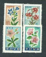 Corea Del Norte - Correo 1960 Yvert 223/7 * Mh  Flores - Corée Du Nord