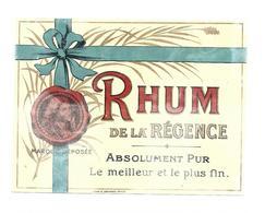 ETIQUETTE  RHUM REGENCE - Rhum