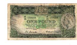 Coombs Wilson Australian One Pound, 1953 VF, HE 26 - Pre-decimaal Stelsel Overheidsuitgave 1913-1965