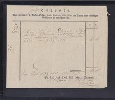 Österreich Taxnote 1839 - Historische Dokumente