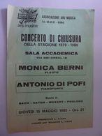 """Volantino """"CONCERTO DI CHIUSURA DELLA STAGIONE 1979 - 1980 Associazione ARS MUSICA  Roma"""" - Programmi"""