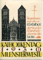 43835 Germany Reich, 8pf. Stationery Card Postcard 69th Katholikentages Munster I.w. Sept.1930, St.augustinus - Germany