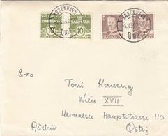 DÄNEMARK 1953 - 4 Fach Frankatur Auf Brief Gel.v. Kopenhagen > Wien XVIII - Dänemark