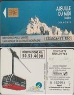 F158 TELECARTE AIGUILLE DU MIDI 120 U PUCE SO3 1991/06 - Varietà