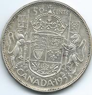 Canada - Elizabeth II - 1953 - 50 Cents - KM53 - Canada