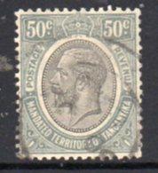 Tanganyika GV 1927-31 50c Grey Definitive, Used, SG 100 (BA) - Kenya, Uganda & Tanganyika