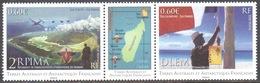 TAAF - 2012 - Triptyque 2e RPIMA Aux Iles Europa / Détachement De La Légion Etrangère De Mayotte Aux Iles Glorieuses ** - Neufs