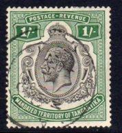 Tanganyika GV 1927-31 1s. Green Definitive, Used, SG 102 (BA) - Tanganyika (...-1932)