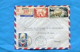 Marcophilie-Gabon-lettre REC-pour Françe-cad-1960-OYEM-AFFT Mixte- Colonie Française+république - Gabon (1960-...)