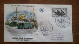 Premier Jour  FDC..  JOURNEE  DU  TIMBRE  ..PARIS .. 1957..postal Maritime - Other