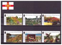 Guernsey 2012 - MNH ** - Fleurs - Michel Nr. 1394-1399 Série Complète (gbg278) - Guernesey