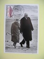 Carte 1985  Charles De Gaulle Cachet Colombey Les Deux Eglises - People