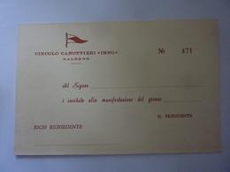 """Cartoncino Invito """"CIRCOLO CANOTTIERI IRNO"""" - Partecipazioni"""