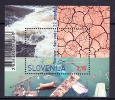 3333 Slovenia 2019 ** MNH Block World Water Day - Umweltschutz Und Klima