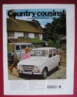 ORIGINAL 1969 MAGAZINE ADVERT FOR RENAULT 4 MOTOR CAR - Other