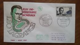 Premier Jour  FDC..    JEUX UNIVERSITAIRES  MONDIAUX  .. 1957 .. PARIS - Other