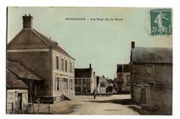 45 LOIRET - DORDIVES La Rue De La Gare, Glacée Couleur - Dordives
