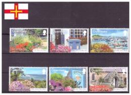 Guernsey 2014 - MNH ** - Fleurs - Tourisme - Michel Nr. 1468-1473 Série Complète (gbg291) - Guernesey