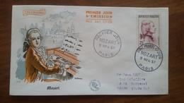 Premier Jour  FDC..   MOZART .. 1957 .. PARIS - FDC