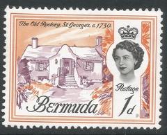 Bermuda. 1962-68 QEII. 1d MH. Upright Block CA W/M SG 163 - Bermuda