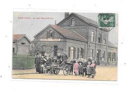 59 - BAUVIN : La Gare BAUVIN-PROVIN : Attelage De Chiens, Carte Rare, TOP , VENTE NON RENOUVELEE - France