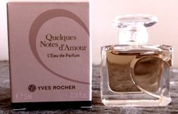 """MINIATURE DE PARFUM PLEINE """" QUELQUES NOTES D'AMOUR """"- YVES ROCHER - Miniaturen Damendüfte (mit Verpackung)"""