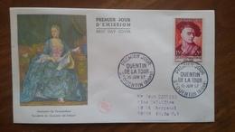 Premier Jour  FDC..   QUENTIN  DE  LA  TOUR .. 1957 ..  Pompadour - Other
