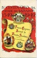 43840 Brasil,cartao Postal Oficial 1949 Congresso Nacional De Vocacoes Sacerdotais,salvador Bahia, Centenario Bahia - Entiers Postaux