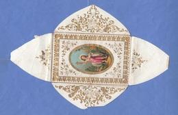 TAUFBRIEF Mit Goldprägung 1871, 3 Seitig Aufklappbar, Größe Ca.11,5 X 7,5 Cm, Gebrauchsspuren - Santini