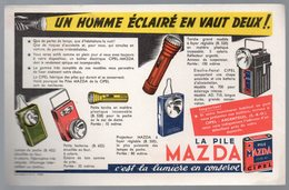 Buvard PILE MAZDA Un Homme éclairé  (PPP10411) - Batterijen