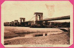 Saint Satur - Les Ponts Suspendus De Saint Thibaud - Edit. Artistique De La Librairie AUGRAIN - Saint-Satur