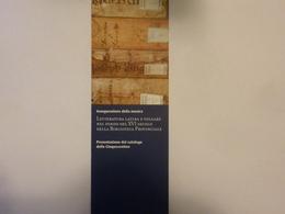"""Segnalibro """"BIBLIOTECA PROVINCIALE DI SALERNO Mostra LE CINQUECENTINE"""" 2004 - Segnalibri"""