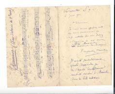LOUIS ALBERT BOURGAULT - DUCOUDRAY 1840 Nantes 1910 Vernouillet Compositeur Musique Lettre 1903 ( Thamara ... ) - Autographes