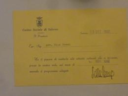 """Cartoncino Invito """"CASINO SOCIALE DI SALERNO"""" 1993 - Partecipazioni"""