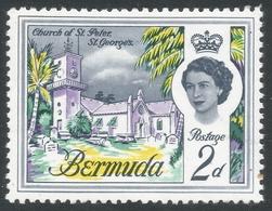 Bermuda. 1962-68 QEII. 2d MH. Upright Block CA W/M SG 164 - Bermuda