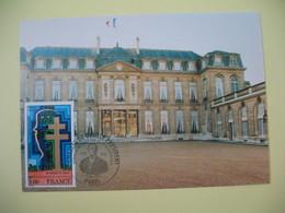 Carte 1998  Charles De Gaulle Président  -Cachet  Paris Palais De L'Elysée - Monumentos