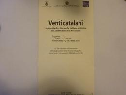 """Cartoncino Invito Mostra """"VENTI CATALANI Salerno Tempio Di Pomona 16 - 17 Novembre 2002"""" - Partecipazioni"""