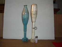 Lot De 2 Grenades A Fusil Antichard Française D'exercice - Armes Neutralisées