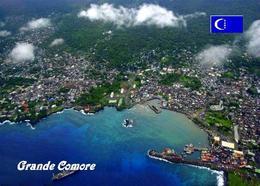 AK Komoren Comoros Grande Comore Island Aerial View New Postcard - Comores
