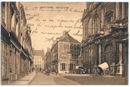 Cpa...Saint-Omer...rue Du Lycée...animée... - Saint Omer