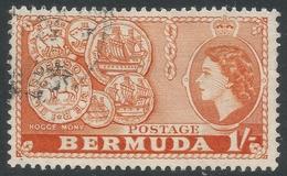 Bermuda. 1953-62 QEII. 1/- Used. SG 144 - Bermuda