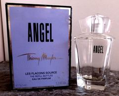 """LOT DEUX FLACONS VIDES """" ANGEL """" THIERRY MUGLER FLACON SOURCE + """" MOMENT DE BONHEUR """" YVES ROCHER - Flacons (vides)"""