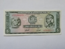 PERU' 5 SOLES DE ORO 1974 - Pérou