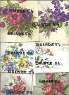 Lot De 20 Cartes à Systèmes POP-UP : Principalement Fleurs Rose, Violette..; Oiseaux : Bonne Année, Fête, Anniversaire - A Systèmes