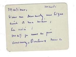 HENRI MARTIN 1860 - 1943 Peintre   Autographe 1901  Sur 2 Cartes Qui Se Suivent - Autographes