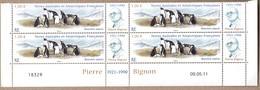 TAAF POSTE 595 BLOC DE 4 COIN DATE NEUF** SUPERBE - Französische Süd- Und Antarktisgebiete (TAAF)