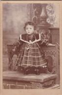 PETIT FILLE ENFANT VINTAG E PHOTO CIRCA 1890- JUAN BORÑIA, AZUL. PHOTO SIZE 11x16.5 Cm - BLEUP - Photographs