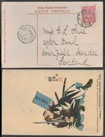 TAIWAN. 1910. Keelung - Tamsui - Scotland. Tea Advert Fkd Circulated Card. XF. - Taiwan (Formose)