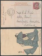 TAIWAN. 1910. Keelung - Scotland. Fkd Circulated. Tea Advert Card. VF. - Taiwan (Formose)