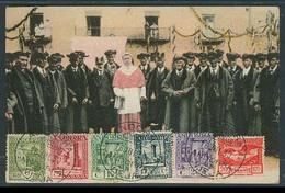 ANDORRA. 1930 (16 Julio). TP Consell Y 6 Sellos Matasellados+ Urgente. - Non Classés